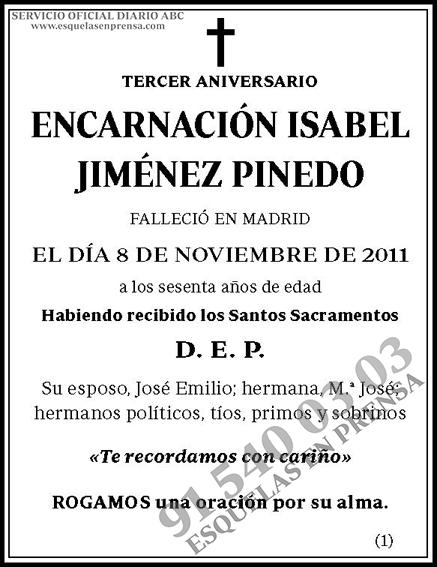 Encarnación Isabel Jiménez Pinedo